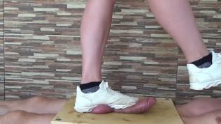 Sneakers Cock Balls Trampling Crushing – CBT Trample