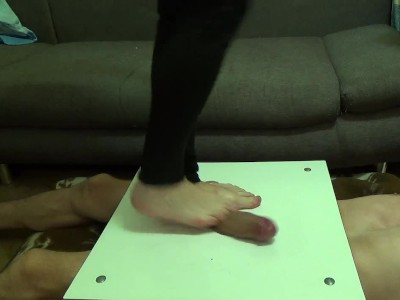 Crushed Cock And Balls Barefoot It Cbt Trampling Part1