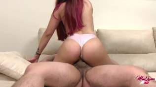 I came on his dick and He cums inside me - Amateur Sex Homemade