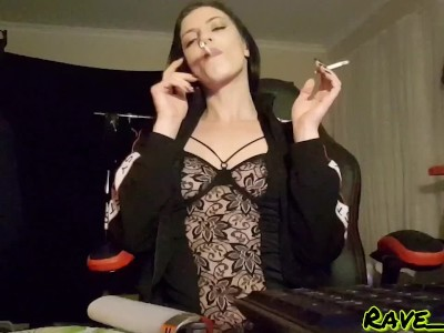 Two Cigarettes, One Girl - Smoking Fetish