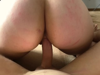 Amazing amateur cowgirl ride on my dick – Rate my wife's beautiful ass