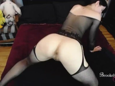 Shooting Multiple Loads of Cum on Brookelynne Briar's Ass and Face Joi