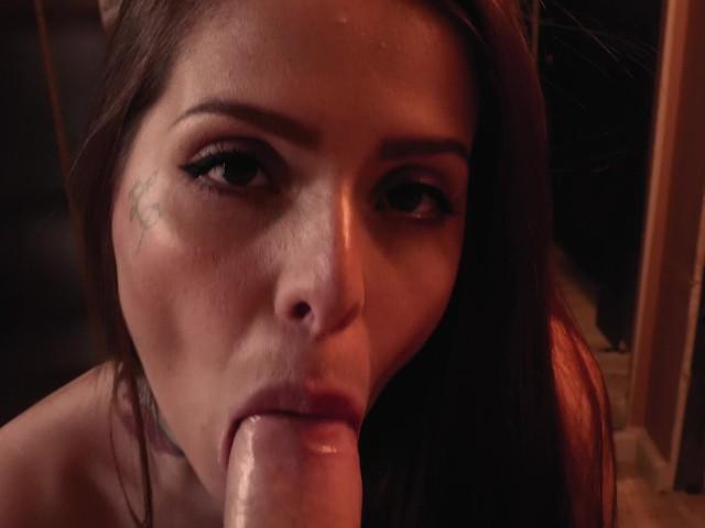 Hot Latina Sloppy Blowjob