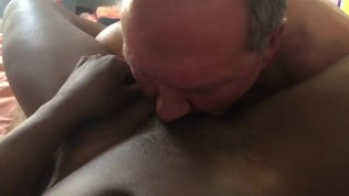 White slave eating my pussy