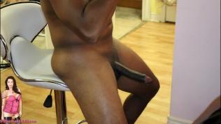Hot Shemale Transexual sucking Big Black Cock Deep Throat Cum