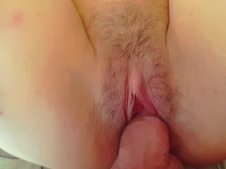 Her tight pussy is so hot and delicious! Licking and big creampie!