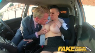 Fake Driving School Sexy businesswoman Tory Candi Jackson fucked by boss