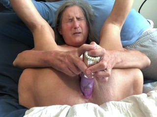 Boiling hot horny mom Vagina Gape Great Rabbit Masturbate Orgasm Close Up Hot milf Granny