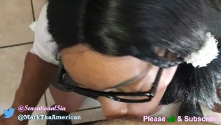 Ebony student sucks and fucks her way out of detention @SiaBigSexy