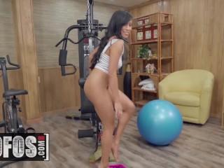 MOFOS - Asian Gym slut Ember Snow gets post workout pounding