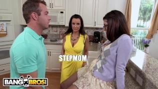 BANGBROS - Sexy MILF Lisa Ann Rides Her Stepson's Cock