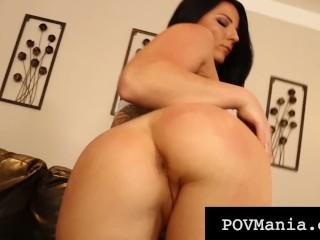 POVMania.com – Hot Beauty Casey Cumz Saves Her Spit To Milk A Cock!