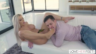 LoveHerFeet - Tattooed MILF Gets A Hard Pounding By An Exchange Student