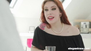 Redhead Calls a Handyman to Fix Her Pipes