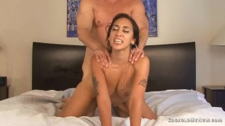 wife cuckolds her husband locks him in chastity creampie eating sissy