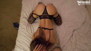 Black Lingerie Never Looked So Good – Young Amateur NoFaceGirl