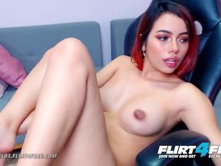 Flirt4Free – Katt Fields – Sexy College Goddess Spreads Her Perfect Pussy