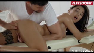 LETSDOEIT – Liya Silver Is So Horny That She Lets The Masseuse Fuck Her ASS
