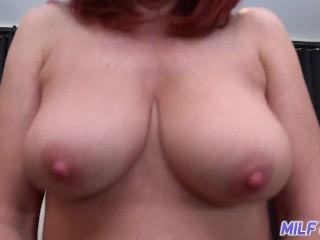 MILFTRIP Huge Tit Red Head MILF Deep Throats Neighbor