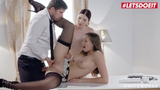 LETSDOEIT – Kinky Wife Ties the Maid And Lets Her Husband Ass Fuck Her