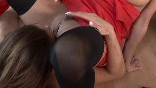 Huge boobs lesbian pussy...