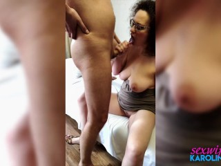 Wife Suck Cock Best Friend Lover and Rough Sex in the Dress