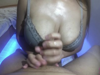 Asian Pinay Horny mommy With Colossal Natural Breast, Titjob