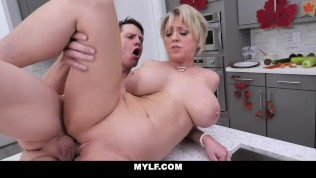 MYLF – Busty Milf Lets A Big Dick Fuck Her Big Tits