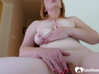 Older redhead hot chick is here to masturbate passionately
