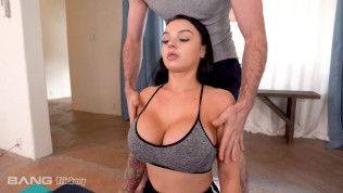 Trickery – Busty Payton Preslee Fucked Raw During Yoga Class