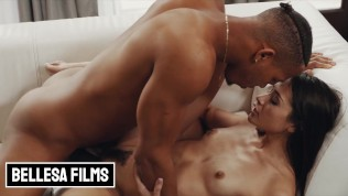Bellesa – Skinny white girl Avi Love takes some by BBC