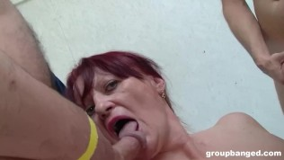 BBW Granny Pounded by Cocks