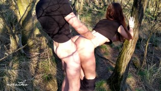 Outdoor Sex in Forest with girl on Public