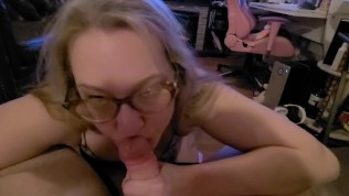 Sophie Loves Sucking Cock and Gets Covered in Cum