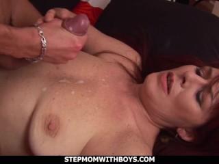 stepmom with boys redhead stepmom enojoying stepson's big cock
