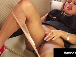 Busty Asian Mommy MaxineX Super Fucks Her Hot Hosed Dick Hole!
