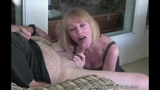 Masturbation And Blowjob With Grandma