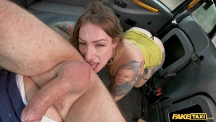 Fake Taxi Ava Austen Plays With A Big Black Dildo On The Backseat
