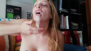 Do you like deepthroat? Extreme deepthroat and spit action on chaturbate