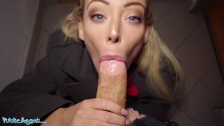 Public Agent Sexy Blonde Australian Isabelle Deltore Plays With A Stranger For Money