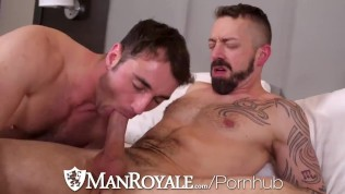 Manroyale Big Cock get sucked all over the place