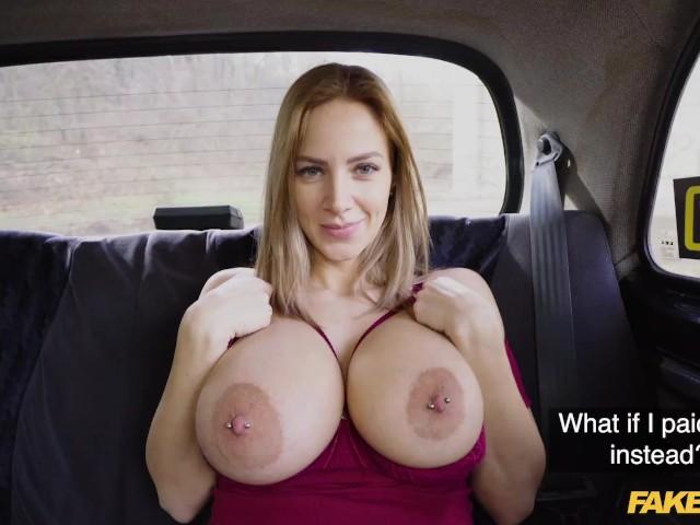 Hot Blonde Big Fake Tits