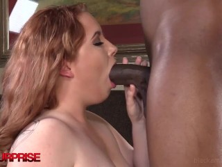 Young Chunky Arielle Is Wrecked By Big Black Cock!