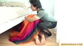 Old indian stepmom fucked by young son