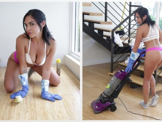 BANGBROS – Dang Sexy Housekeeper Selena Santana Gives Client VIP Treatment
