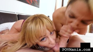 Horny Mom Cherie Deville Teaches Step Daughter Alix Lovell How To Suck Cock