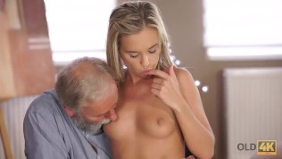 OLD4K. Hottie loves geography and hot coitus with older teacher