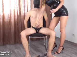Femdom Delusion – I pour erotic wax on him and execute no matter I would like -KaterinaAmateur 4K