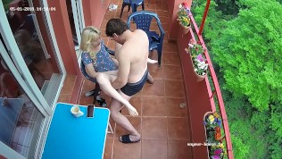 The Adult Hot Blonde Milf Babe In Romantic Hardcore Sex At Balcony