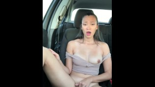 Public car play. Trying not to get caught makes me so wet!